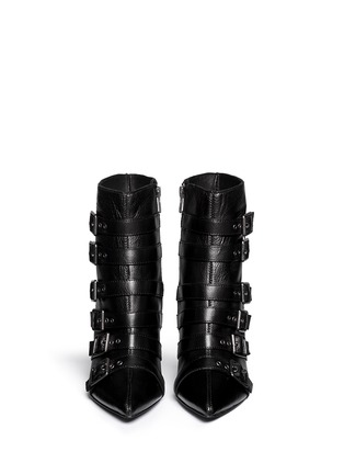 Figure View - Click To Enlarge - Ash - 'Cash' multi buckle leather boots
