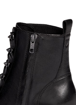 Detail View - Click To Enlarge - Ash - 'Dagger' lace-up leather ankle boots