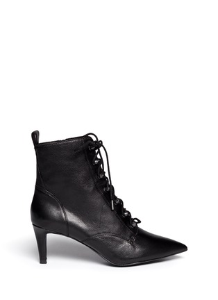 Main View - Click To Enlarge - Ash - 'Dagger' lace-up leather ankle boots