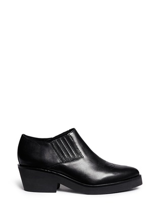 Main View - Click To Enlarge - Ash - 'Sheryl' leather cowboy booties