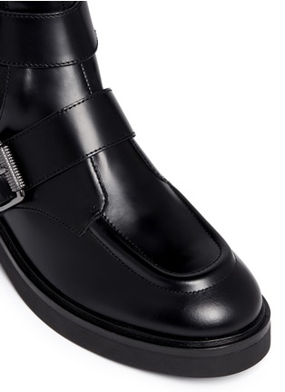 Detail View - Click To Enlarge - Ash - 'Nikko' double buckle leather boots