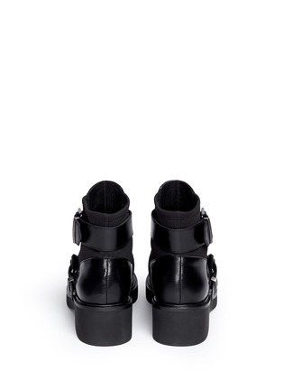 Back View - Click To Enlarge - Ash - 'Nikko' double buckle leather boots