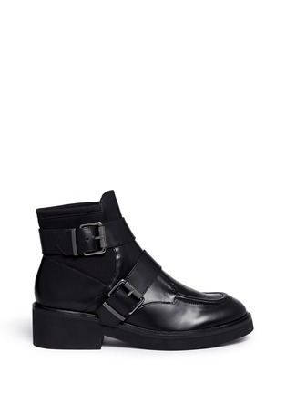 Main View - Click To Enlarge - Ash - 'Nikko' double buckle leather boots