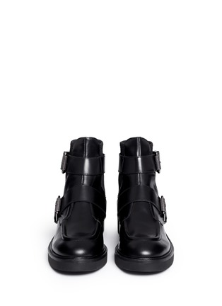 Figure View - Click To Enlarge - Ash - 'Nikko' double buckle leather boots
