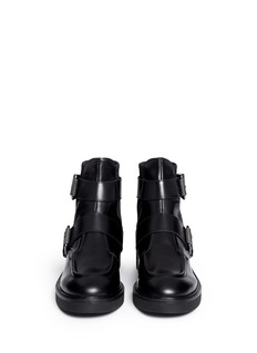ASH'Nikko' double buckle leather boots