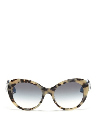 Main View - Click To Enlarge - Prada - Jewel temple tortoiseshell acetate sunglasses