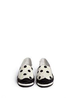 Dolce & Gabbana'Espadrillas' polka dot print floral brocade espadrilles