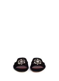 Dolce & Gabbana'Bianca R' jewelled lace slippers