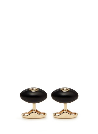 Paul Smith - Enamel American football cufflinks