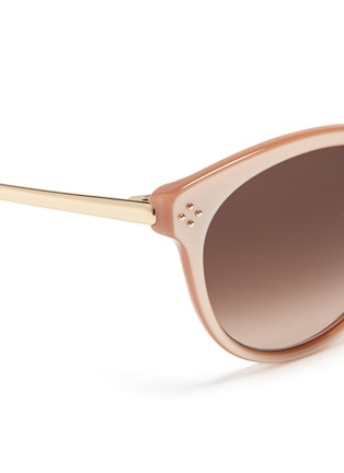 Detail View - Click To Enlarge - Chloé - Metal temple round cat eye sunglasses