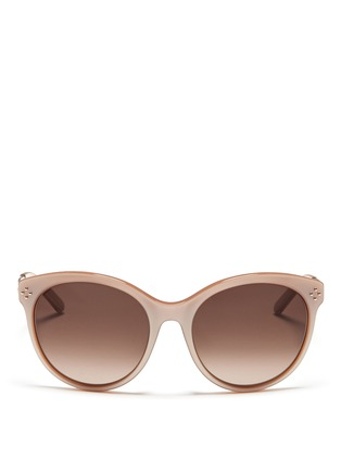 Main View - Click To Enlarge - Chloé - Metal temple round cat eye sunglasses