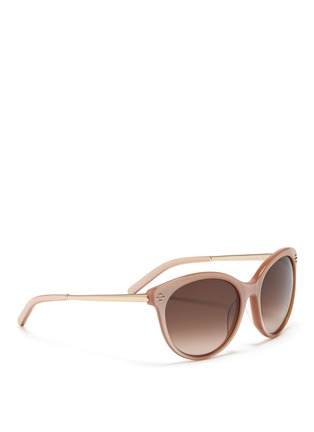 Figure View - Click To Enlarge - Chloé - Metal temple round cat eye sunglasses