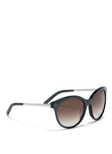 CHLOÉRound cat-eye metal temple sunglasses
