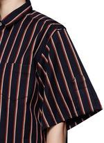 Pinstripe box shirt