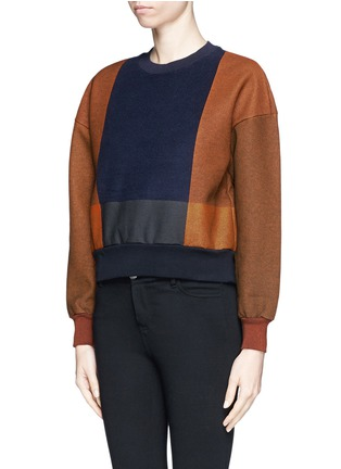 TOGA ARCHIVES - Colourblock print cotton sweater