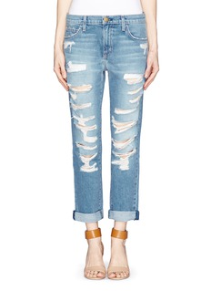 CURRENT/ELLIOTT 'The Fling' tattered boyfriend jeans