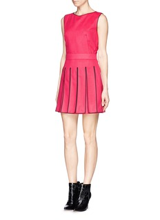 KENZOWool-cashmere felt fringe dress