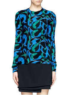 KENZO Abstract floral puzzle Print Sweater