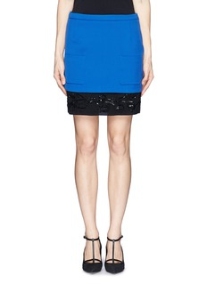 NO. 21Colourblock bead sequin skirt