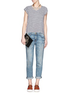 CURRENT/ELLIOTT 'The Fling' metallic star print boyfriend jeans