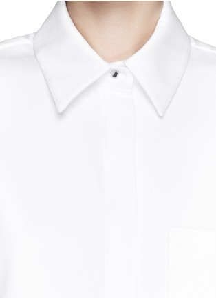 Detail View - Click To Enlarge - Proenza Schouler - Cotton boxy shirt