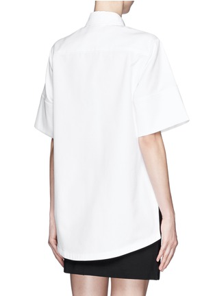 Back View - Click To Enlarge - Proenza Schouler - Cotton boxy shirt