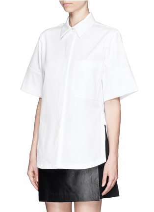 Front View - Click To Enlarge - Proenza Schouler - Cotton boxy shirt