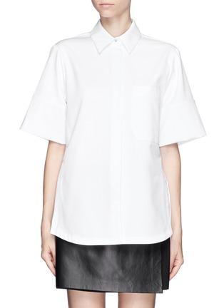 Main View - Click To Enlarge - Proenza Schouler - Cotton boxy shirt