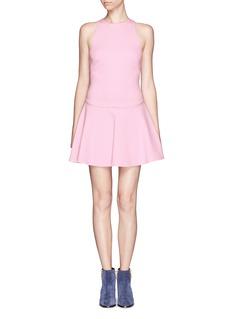 MSGMDropped waist flare dress