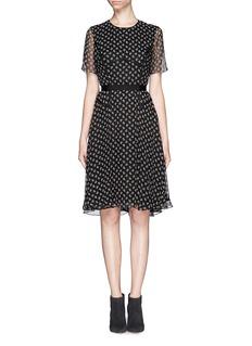 JASON WUPaisley print silk chiffon dress