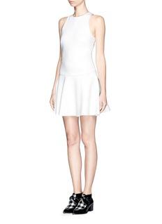 MSGMDrop waist flare dress