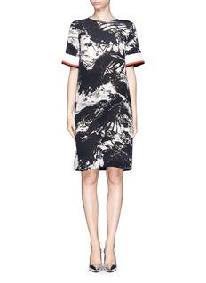 PREEN BY THORNTON BREGAZZI'Bria' blackbird print georgette dress