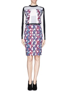 PETER PILOTTO'Erin' orchid print skirt