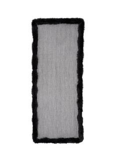 VALENTINOFox fur trim cashmere-silk scarf