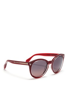 ALEXANDER MCQUEENSkull stud acetate sunglasses