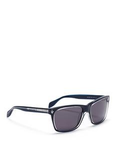 ALEXANDER MCQUEENSkull stud acetate wayfarer sunglasses