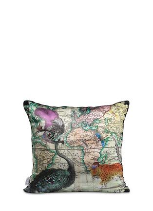 Main View - Click To Enlarge - Kristjana S Williams - Lundunar Kort silk cushion