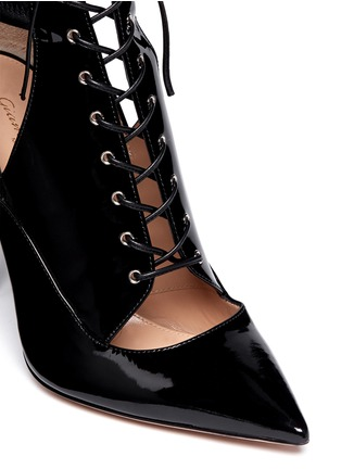 Detail View - Click To Enlarge - Gianvito Rossi - Cutout patent leather boots