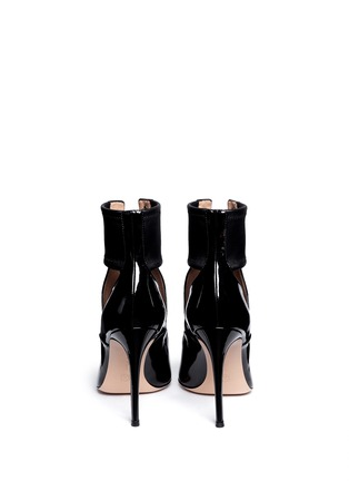 Back View - Click To Enlarge - Gianvito Rossi - Cutout patent leather boots