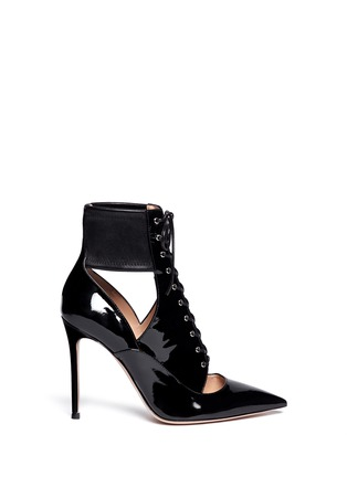 Main View - Click To Enlarge - Gianvito Rossi - Cutout patent leather boots