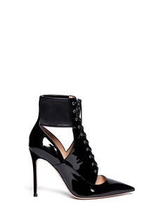 GIANVITO ROSSI Cut out patent leather boots