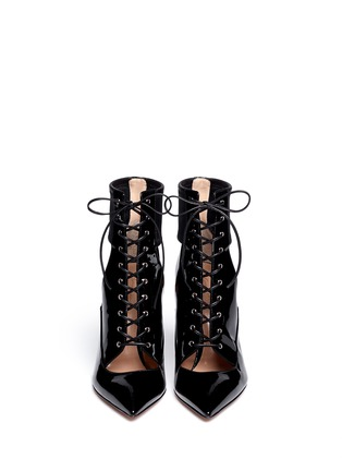 Figure View - Click To Enlarge - Gianvito Rossi - Cutout patent leather boots