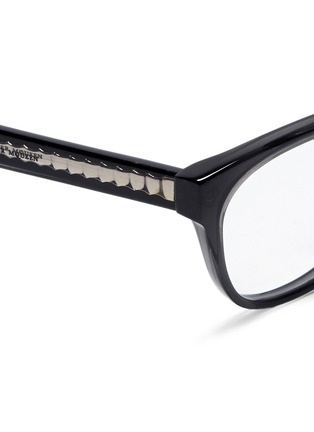 Detail View - Click To Enlarge - Alexander McQueen - Skull stud square cat eye optical glasses