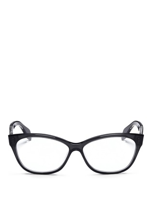 Main View - Click To Enlarge - Alexander McQueen - Skull stud square cat eye optical glasses