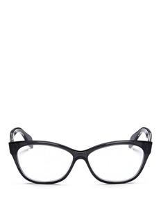 ALEXANDER MCQUEENSkull stud square cat-eye optical glasses