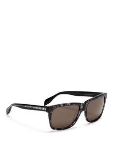 ALEXANDER MCQUEENSkull stud square sunglasses