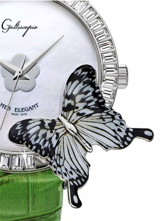 Detail View - Click To Enlarge - Galtiscopio - 'Mes Elegant' butterfly crystal watch
