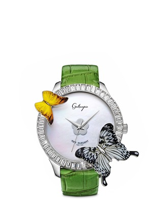 Main View - Click To Enlarge - Galtiscopio - 'Mes Elegant' butterfly crystal watch