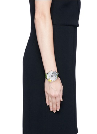 Figure View - Click To Enlarge - Galtiscopio - 'Mes Elegant' butterfly crystal watch