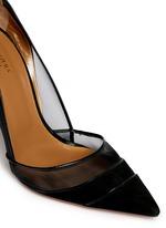 x Olivia Palermo mesh suede pumps